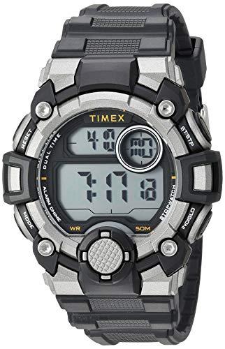 - Timex Men's TW5M27700 A-Game DGTL 50mm Black/Gray/Orange Resin Strap Watch