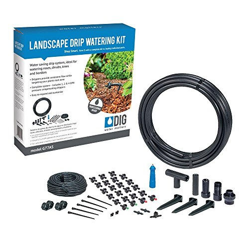 DIG G77AS Landscape Drip Watering Kit (Best Irrigation System For Roses)