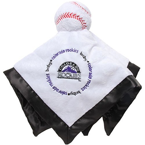 Colorado Rockies Black Baby Security Snuggle Bear Blanket - 14