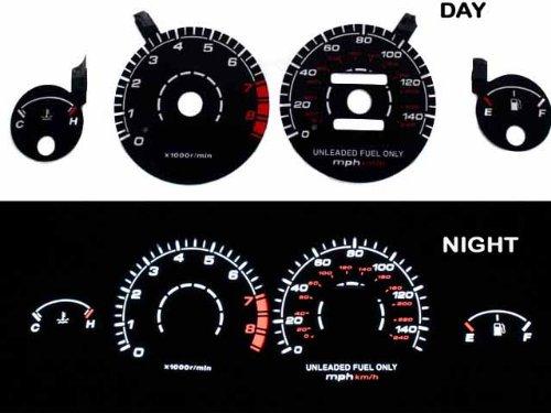 94 95 96 7 98 99 00 01 Acura Integra RS/LS/GS Manual Transmission Black Indiglo Glow Gauge 1994-2001