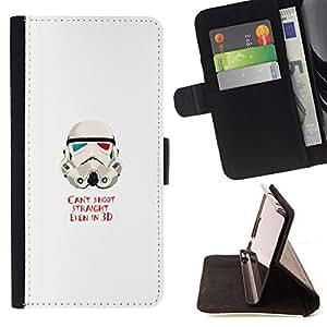 BullDog Case - FOR/Sony Xperia M2 / - / Can'T Shoot Straight St0Rmtrooper /- Monedero de cuero de la PU Llevar cubierta de la caja con el ID Credit Card Slots Flip funda de cuer