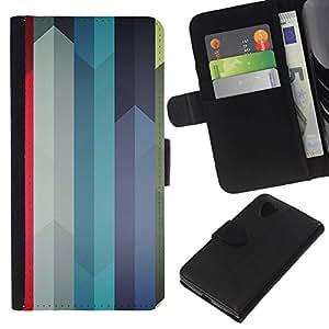 TikTakTok Hartschale Schutzhülle Tasche Hülle für LG Nexus 5 D820 D821 - Bunte Linien Swords