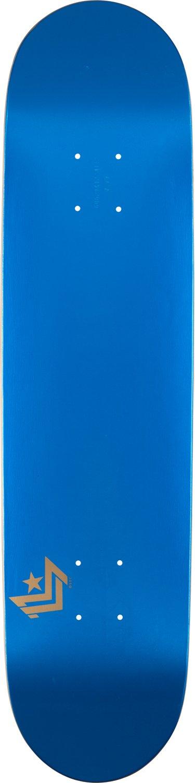 Mini-Logo Deck 8.5 Chevron Metallic Blue Shape 249 Skateboard,