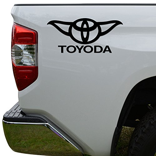 oyoda Yoda Toyota Crossover Die Cut Vinyl Decal Sticker For Car Truck Motorcycle Window Bumper Wall Decor Size- [8 inch/20 cm] Wide Color- Matte White ()
