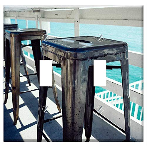 Switch Plate Double Toggle - Bar Stools Outdoor Seating Chairs Ocean View