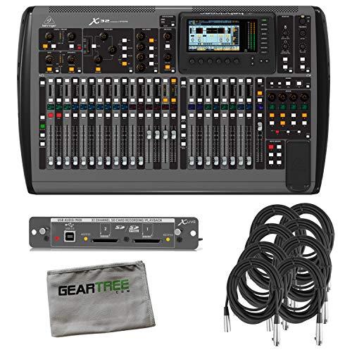 Bus Console 8 Recording (Behringer X32 32-Channel 16-Bus Digital Mixing Console Bundle w/Expander, 8 Cabl)