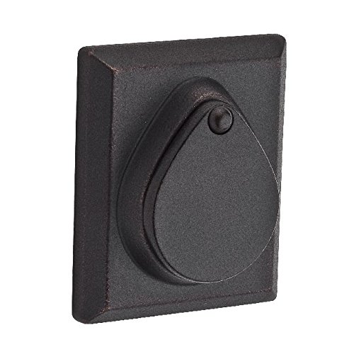 Baldwin Reserve DCRSD481S Double Cylinder Rustic Square Deadbolt with Smartkey Dark Bronze Finish