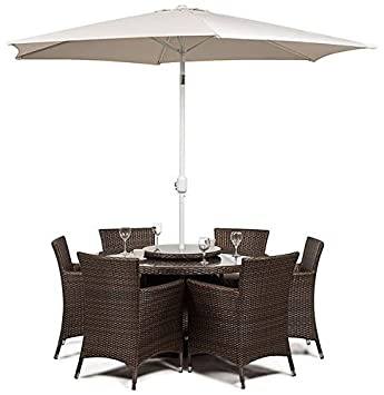 Amazon.de: Colorado Rattan Garten Terrasse Wintergarten Lounge Möbel ...