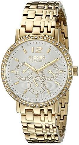 Versus by Versace Women's SOR120015 MANHASSET Analog Display Quartz Gold-Tone Watch (Gold Versus Watches For Men)