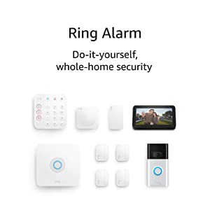 Ring Alarm 8-piece kit (2nd Gen) with Ring Video Doorbell (2nd Gen) and Echo Show 5