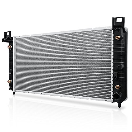 CU2370 Complete 1-Row Replacement Aluminum New Radiator for Chevy Silverado Suburban Chevrolet Avalanche GMC Yukon Sierra Tahoe Escalade Hummer H2 4.8L 5.3L 6.0L 6.2L V8, AT