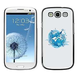 Paccase / SLIM PC / Aliminium Casa Carcasa Funda Case Cover para - Forrest Animals - Samsung Galaxy S3 I9300