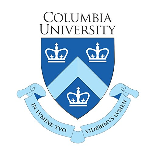Columbia University Logo CreativeStickers0201 Set Of Two (2x) Stickers , Laptop , Ipad , Car , Truck , Size 4 inches on Longer Side ()