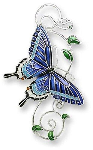 Tiger Swallowtail Butterfly Enameled (Tiger Butterfly Brooch)