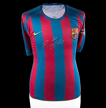 pretty nice 9199d c8a5a Rivaldo Front Autographed Signed FC Barcelona 2005-06 Home ...