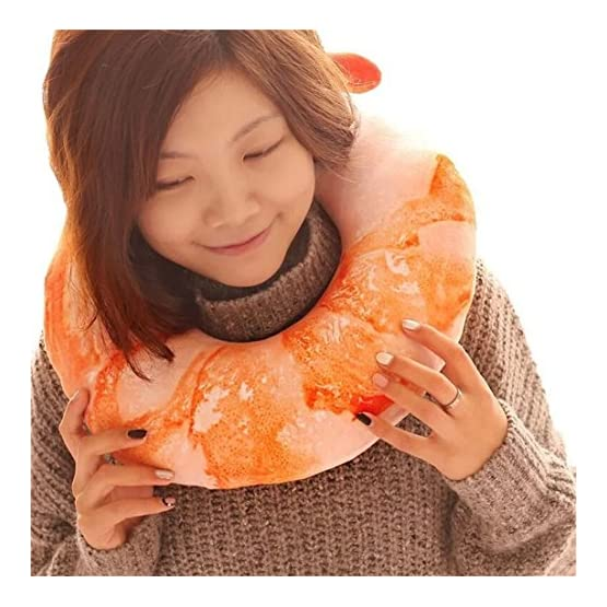 Shrimp Neck Pillow | Food Throw Plush 2