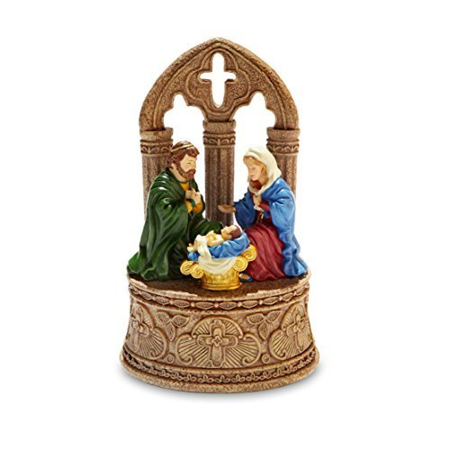 Rustic Nativity Musical Figurine by The San Francisco Music Box (Nativity Music Box)