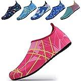 QTMS Kids Boys Girls Water Shoes Barefoot Quick Dry Aqua Socks Swim Shoes (Toddler/Little Kid/Big Kid)-105Pink-34