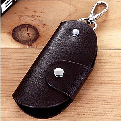9f1df9012f3c Generic Mens Women Leather Key Wallet Case Holder Purse Pouch Bag ...