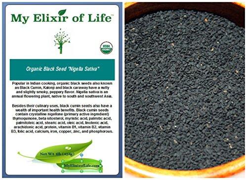 Organic NIGELLA SATIVA Seed AKA Black Cumin,Kalonji, Black Seed- 1 lb by My Elixir of Life