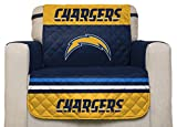 NFL San Diego Chargers Chair Reversible Furniture Protector with Elastic Straps, 75-inches by 65-inches