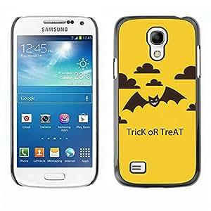 Be Good Phone Accessory // Dura Cáscara cubierta Protectora Caso Carcasa Funda de Protección para Samsung Galaxy S4 Mini i9190 MINI VERSION! // Halloween Trick Treat Bat
