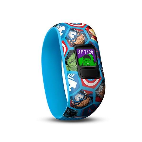 Garmin Vivofit JR 2 Activity Tracker per Bambini - Cinturino Regolabile Marvel Avengers blu - 4 anni