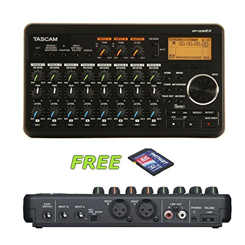 - Tascam DP-008EX 8-Track Digital Recorder with a Free 32GB Patriot SD Card