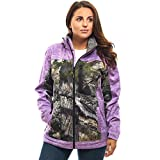 TrailCrest Women's Softshell Jacket, Ultra Soft Plush Lining Mossy Oak Camo Patterns (Purple Heather - XX-Large)