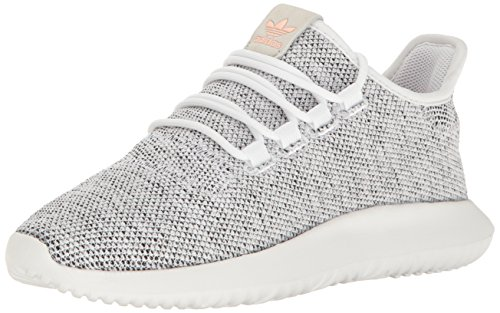 adidas Originals Women's Tubular Shadow W Running Shoe, White/Pearl Grey/Haze Coral, 10 M US