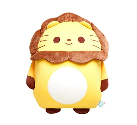 Super Adorable Animal Allegiance Microbead Pillow Kids Cuddly Toy Lion