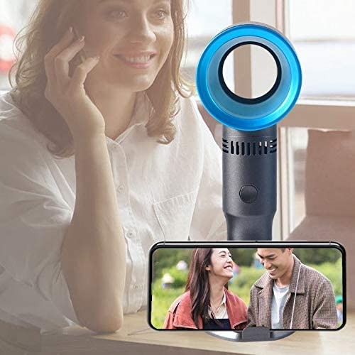 Detachable Base Size: 6.8cm 19.9cm Portable Chenteshangmao Portable Hand-held Leafless Fan Adjustable Three-Speed Wind Speed Built-in USB Rechargeable 2000mAh Lithium Battery