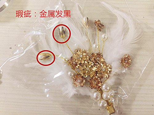 Custom Costume han Chinese Clothing Fairies Antique Antiquity Photo Xian Qi Wedding Feather Hair Hairpin from TJTDIL