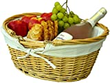Wicker Picnic Baskets | Little Red Riding Hood Basket for Kids | Hand Woven Wicker Great for Easter Basket | Storage of Plastic Easter Eggs Candy Gift Wedding Baskets