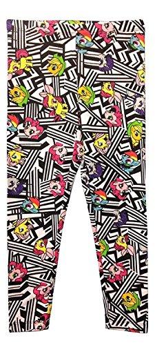 FREEZE Little Girls' My Little Pony Mlp Girls Legging, White/Multi, -