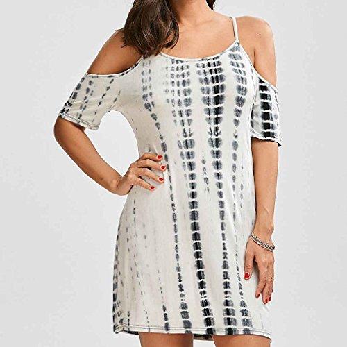 Vestido del Mujeres Chica algodón Atractivas vestidonegro Mini Providethebest del Verano del Corto de M Tirante Espagueti Las Hombro nqtzww50T