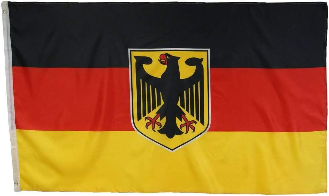 Abasonic 16122 - Bandera de Alemania, con águila, 90 x 150 cm: Amazon.es: Jardín