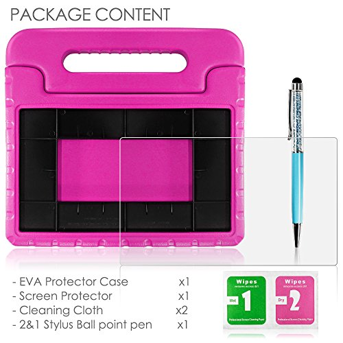 Tablet All-New Fine 7 2015 Case with Screen Protector & Stylus, AFUNTA Convertible Handle EVA Protective Case, PET Plastic Cover & Touch Pen Compatible 7 inch Tablet (5th Generation 2015 Release)-Rose by AFUNTA (Image #1)