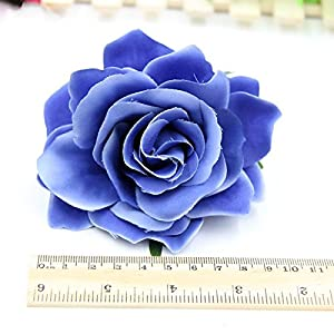 10PCS 9CM Decorative Artificial rose Flower Heads For Wedding Party Decoration DIY Wreath Gift Box Scrapbooking Craft Fake Flowers 3