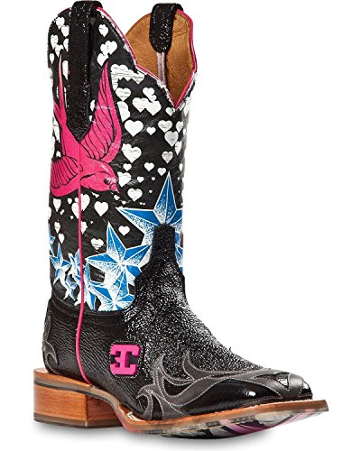 Stella Square - Cinch Women's Edge Stella Cowgirl Boot Square Toe Black 6 M US