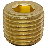 Anderson Metals 56115 Brass Pipe Fitting, Hex Drive Countersunk Plug, 1/4