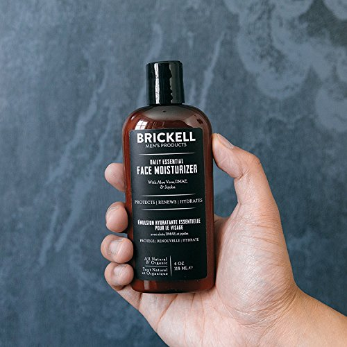 51xb yhavtL - Brickell Men's Daily Essential Face Moisturizer for Men, Natural and Organic Fast-Absorbing Face Lotion with Hyaluronic Acid, Green Tea, and Jojoba, 4 Ounce, Unscented