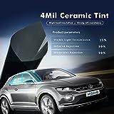 HOHO 4Mil Window Film 15% VLT Nano Ceramic Tint Residential Auto Home Window Tint Heat Resist 60''x33ft