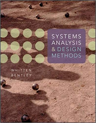 Amazon com: Systems Analysis and Design Methods