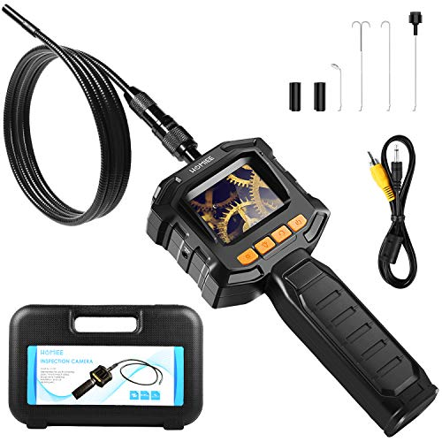 HOMIEE Borescope Inspection Camera with 2.3 Inch LCD Screen, Endoscope Camera 4 LED Lights with 3.2 Ft IP67 Waterproof Tube, Use for Pipeline Detection, Car Repairment, Air Vent, Wall Inspection