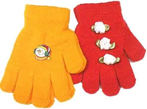 Accessories Baby Boys Set of Two Pairs Stretch Magic Gloves for Infants Toddlers Ages 1-4 Years