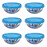 Duralex Stacking Glass Lunchbox / Ingredients Food Bowl & Lid - 12cm - Pack of 6