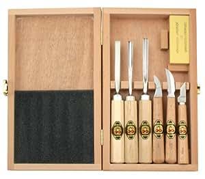 kirschen 3437000 juego de herramientas para tallar madera bricolaje y herramientas. Black Bedroom Furniture Sets. Home Design Ideas