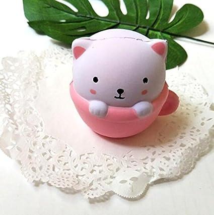 OVVO Creative - Taza de dibujos animados para gatos, juguetes de regalo para niños y