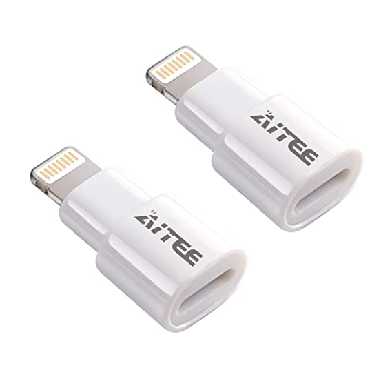 buy popular 42474 26ae8 Extender Adapter,AITEE Dock Extension Connector for Lifeproof Otterbox Case  Compatible with iPhone 5/5s/5c/SE/6/6S/7/8 Plus/X and iPad (White 2Pack)